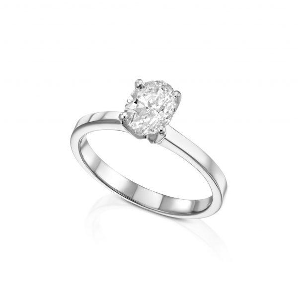 טבעת אובל 1 קראט