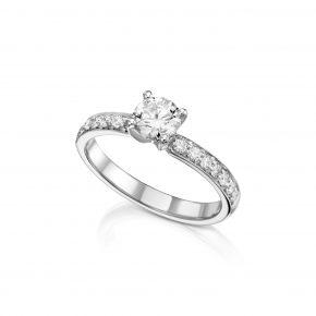 טבעת יהלום 0.74 קראט
