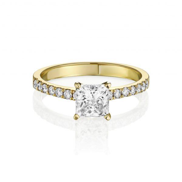 טבעת יהלום פרינסס מרובע דגם 5378