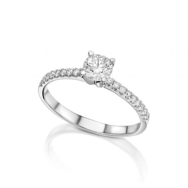 טבעת אירוסין זהב לבן