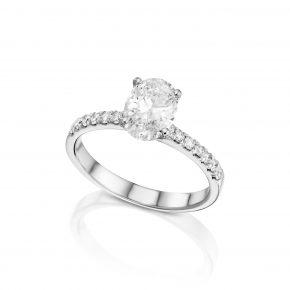 טבעת יהלום אובל 1.16 קראט