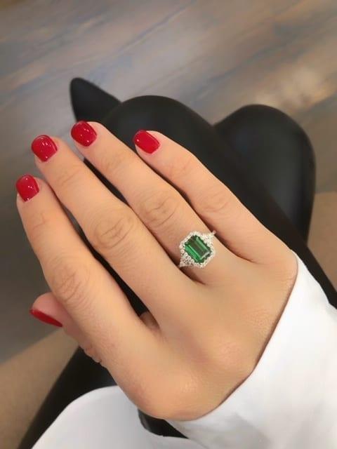 טבעת טורמלין 2 קראט