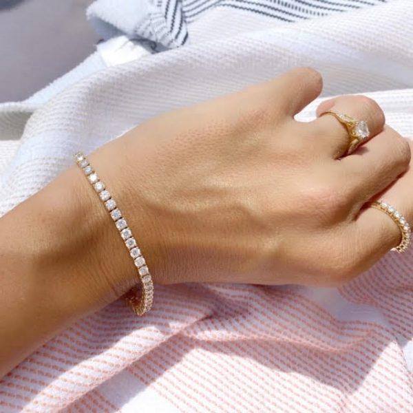 צמיד טניס 5 קראט יהלומים