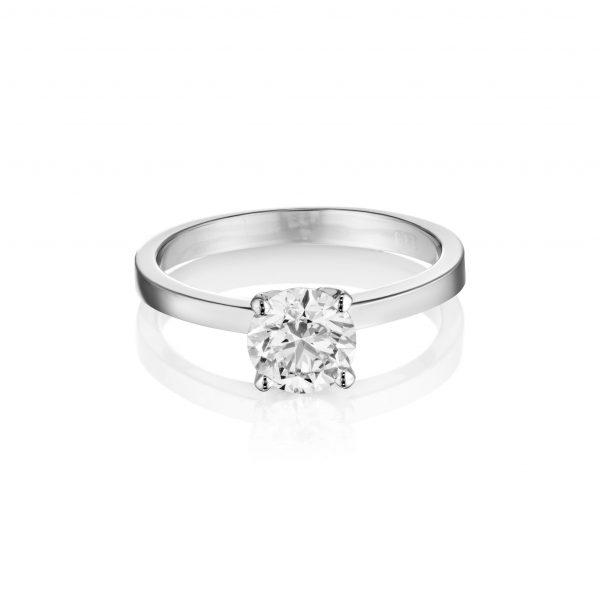 טבעת יהלום סוליטר