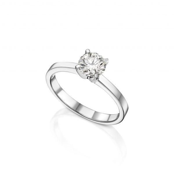 טבעת אירוסין חצי קראט