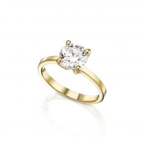 טבעת יהלום 1 קראט