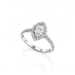 טבעת יהלום מרקיזה