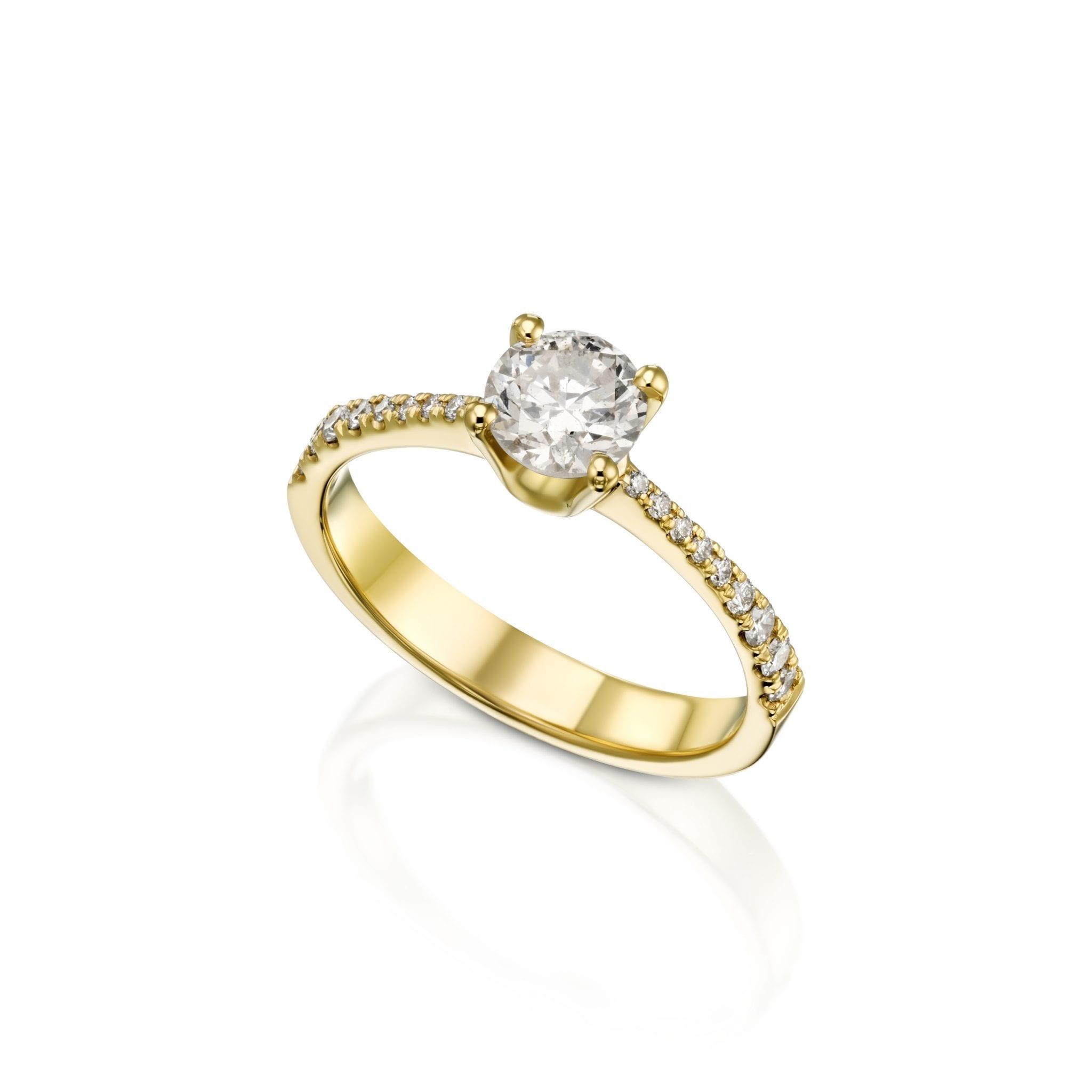 טבעת יהלומים 0.88 קראט
