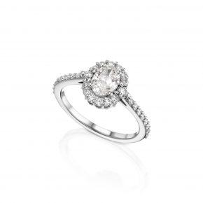 טבעת יהלומים אובל 1.13 קראט