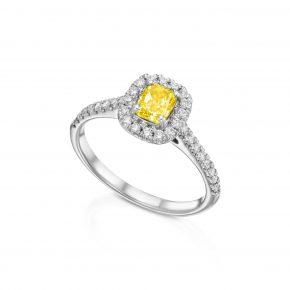 טבעת יהלום קושן קולקציית FANCY