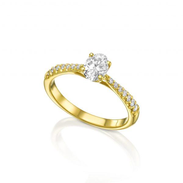 טבעת יהלום אובל