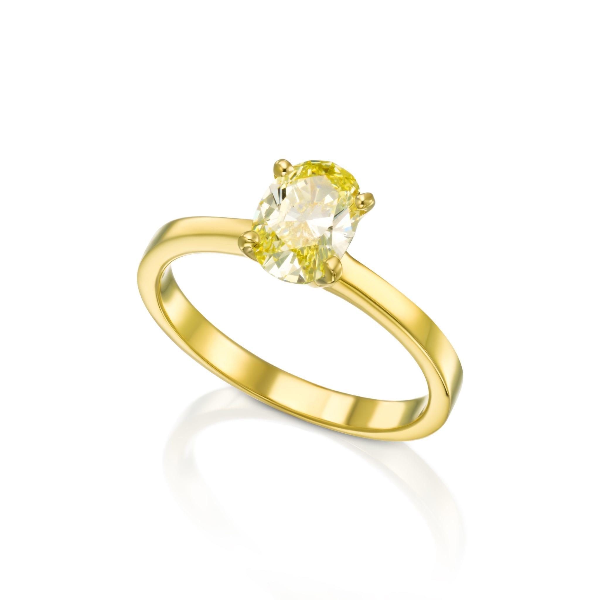 טבעת יהלום אובל קולקציית FANCY