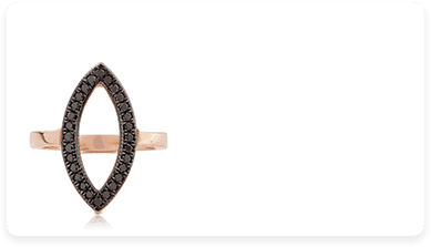 טבעת אדומה עם יהלום שחור