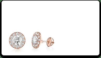 עגילים עם יהלומים