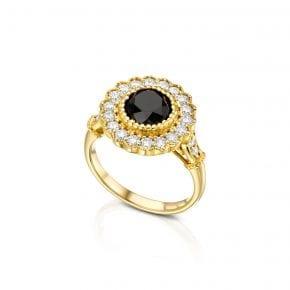 טבעת יהלום שחור 2.48 קראט