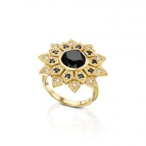 טבעת יהלום שחור 3.46 קראט