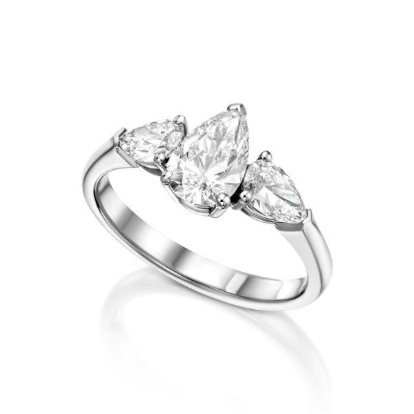 טבעת אירוסין 3 טיפות