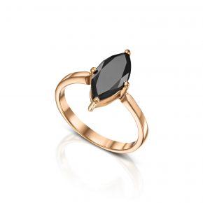טבעת מרקיזה יהלום שחור