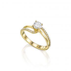 טבעת אירוסין זהב צהוב