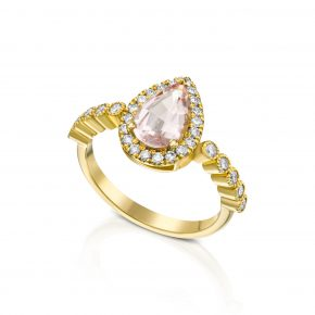 טבעת טיפה מורגנייט