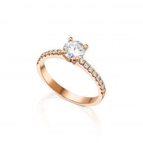 טבעת אירוסין זהב אדום