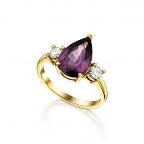 טבעת אבן חן טיפה SPINEL