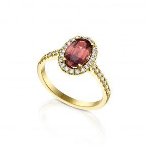 טבעת אבן חן אובל SPINEL