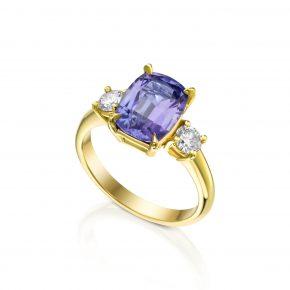 טבעת קושן טנזנייט